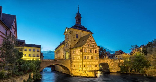 According to legend the bishop of Bamberg did not grant the citizens any land, this forced them to create islands in the river