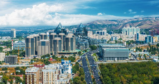 Stroll down the streets of Almaty city and enjoy a modern city with lush green pockets scattered throughout on your Kazakhstan Vacation