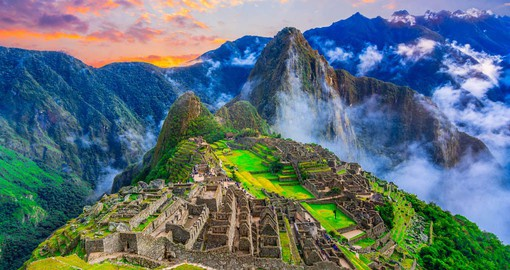 The 15th-century Inca citadel of Machu Picchu stands at an altitude of 2,430 metres on the eastern slopes of the Andes