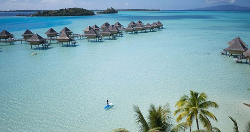 Enjoy the turquoise waters of Bora Bora's lagoon