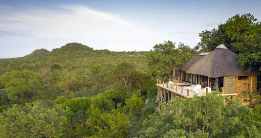 Leopard Hills offers magnificent views over the bush and an active waterhole