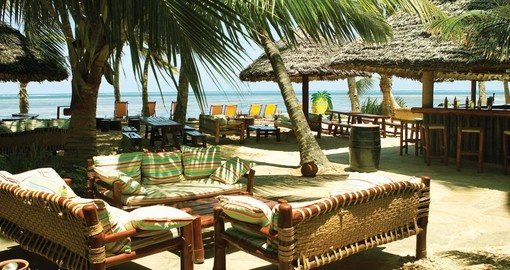 Experience all the amenities of the Sarova Whitesands Beach Resort during your next Kenya safari.