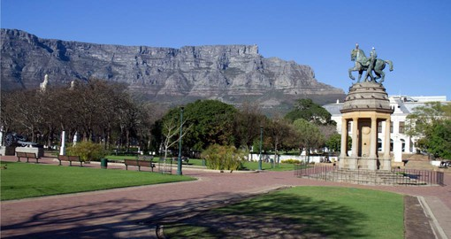 The Company Gardens established by the Dutch East India company are p[art of your trip to South Africa