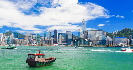 Enjoy the views of Hong Kong harbour on your trip to Hong Kong