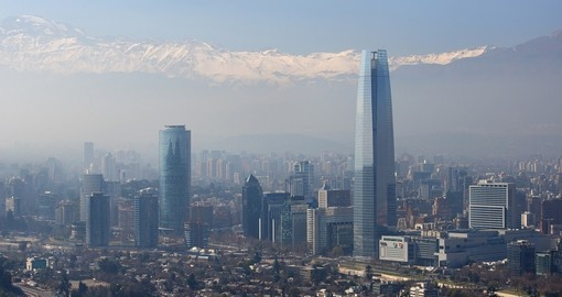 Skyscrapers of the financial district of Santiago