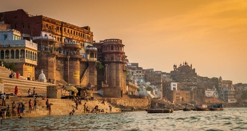 See Varanasi at sunrise from the Ganges River on your India Tour