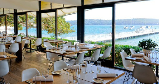 Enjoy lunch at one of Sydney's harbourside restaurants on your Australia Vacation