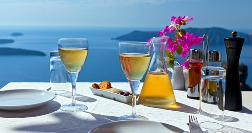 Table above the sea for two