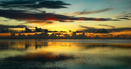 Discover the beauty of Fiji sunset during your next Fiji vacations.