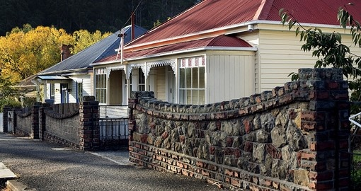 Beautiful old timber weatherboard homes are common in Hobart