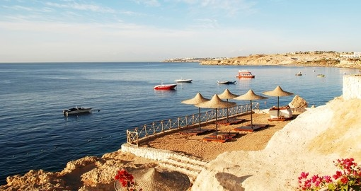 Red Sea coast of Sharm el Sheikh - a great photo opportunity while on your Egypt vacation.