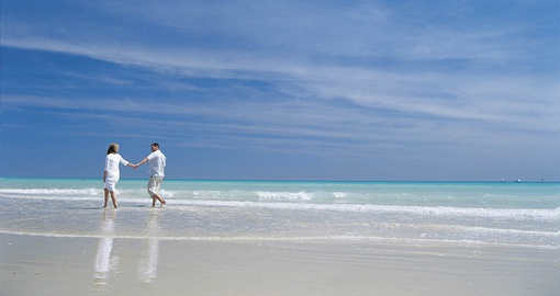 Stroll on pristine Cable Beach on your Australia Vacation
