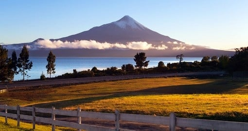 You will see the Osorno Volcano and Llanquihue Lake during your vacation in Chile
