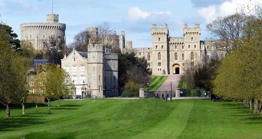 Windsor is the oldest and largest occupied castle in the world and a favourite residence of the Royal Family
