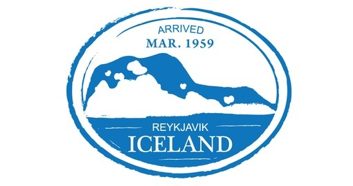 Retro Iceland Passport Stamp