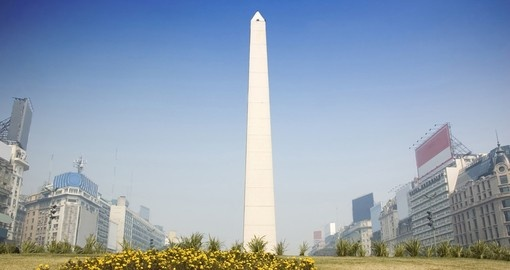 The Obelisk in central Buenos Aires - a very popular photo opportunity while on all Argentina tours