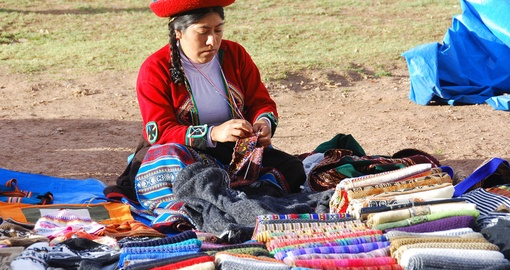 Traditional clothes of Peruvian woman