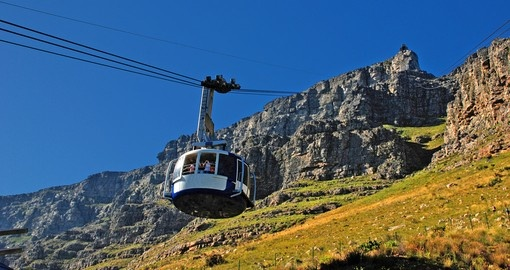 Take the funicular up to Table Mountain while on your South African vacation.