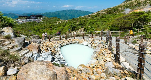 Hakone is renown for it's hot springs and views of Lake Ashinoko