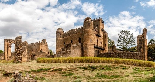 Panorama view at the Fasilides Castle - a great photo opportunity while on your Ethiopia vacation.