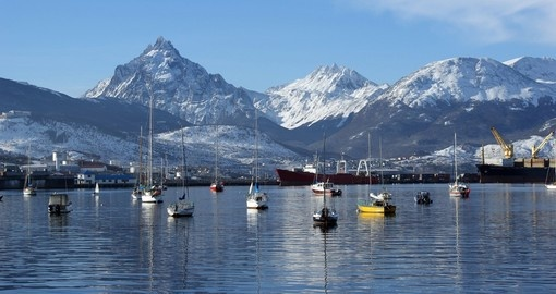 Ushuaia and mountains