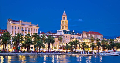 Stroll the colourful Split Waterfront on your trip to Croatia