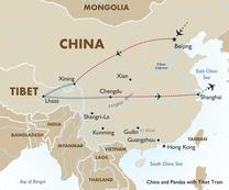 China Tour Map Red Pandas