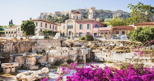 During your Greece vacation visit the charming Plaka District in Athens.