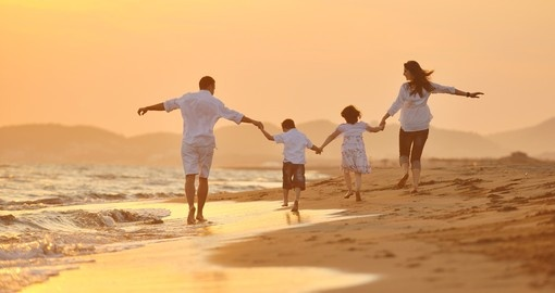 Family time on the beaches of Australia