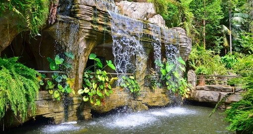A waterfall in Malacca's Botanical Gardens