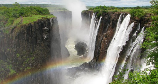 A Victoria Falls tour is part of your Zimbabwe vacation