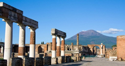 Pompeii was buried under volcanic ash and pumice in the eruption of Mount Vesuvius in AD 79