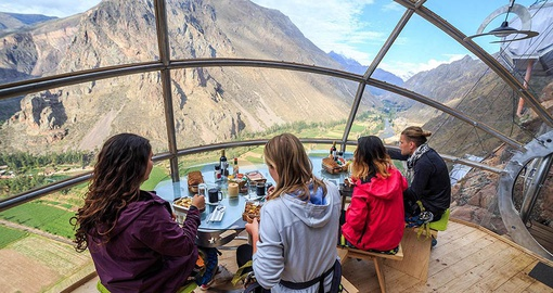 Enjoy lunch with a view on your Peru Tour