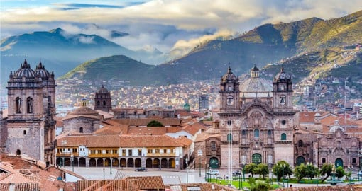 Your Peru Vacation begins in Cusco, and the beautiful Plaza de Armas