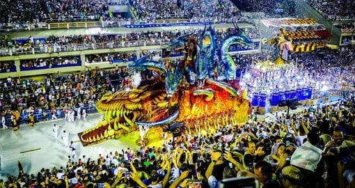 Carnaval in Rio is a highlight of any Brazil Vacation Package