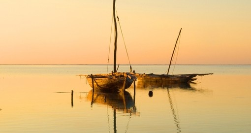 Sunrise on Zanzibar island makes for a great photo opportunity while on your Tanzania safari.