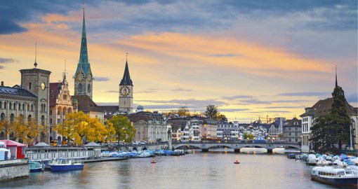 The lake basin and Old Town make up the heart of Zurich