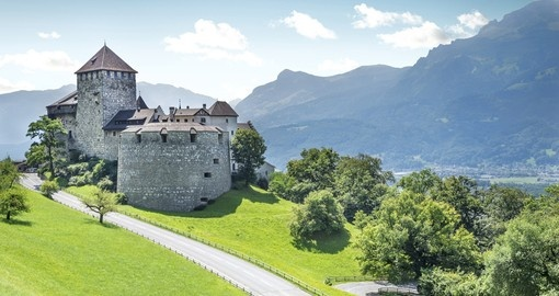 A medieval castle in Vaduz - always a popular photo opportunity on all Liechtenstein Vacations
