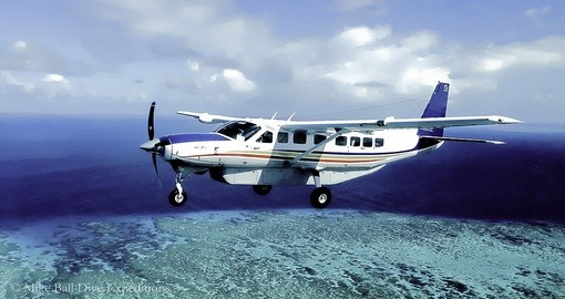 Your Australia vacation package includes a Unique Flight above the Great Barrier Reef dive sites.