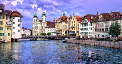 Wander along the pathways of the picturesque town of Lucerne on one of your Trips to Switzerland.
