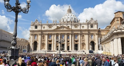 Begin your Trip to Italy with a visit to St. Peter's Basilica and Vatican City