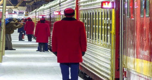 Your vacation in russia includes a overnight train journey