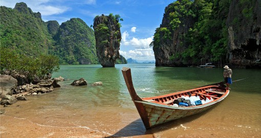 Phang-Nga is renown for it's sheer limestone karsts which played a starring role in a James Bond movie