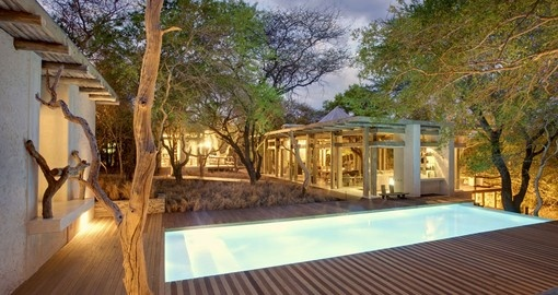 Enjoy a nice swim in Kapama Karula pool after a long day of exploring on your next South Africa safari.