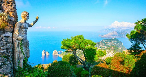 Capri is famed for its rugged landscape and the Blue Grotto
