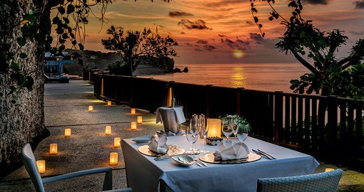 Take in a romantic sunset on your Bali vacation