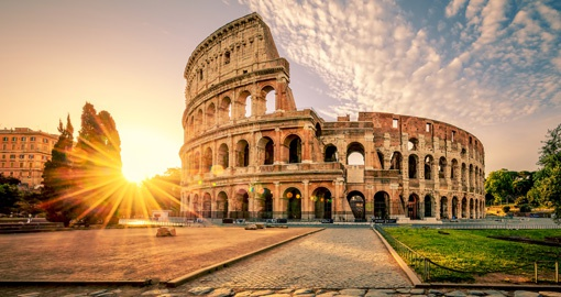 Marvel at the ancient Colosseum in Rome on your trip to Italy