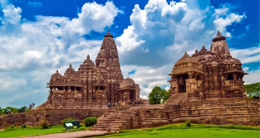 A UNESCO World Heritage Site, The Khajuraho Group of Monuments are noted for their nagara-style architecture