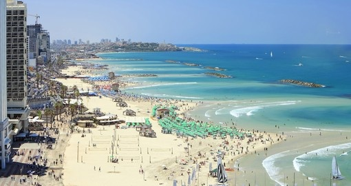 Tel-Aviv beach on the Mediterranean