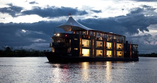 Enjoy cruising on the vessel Amazon Aria on your Peruvian vacation.